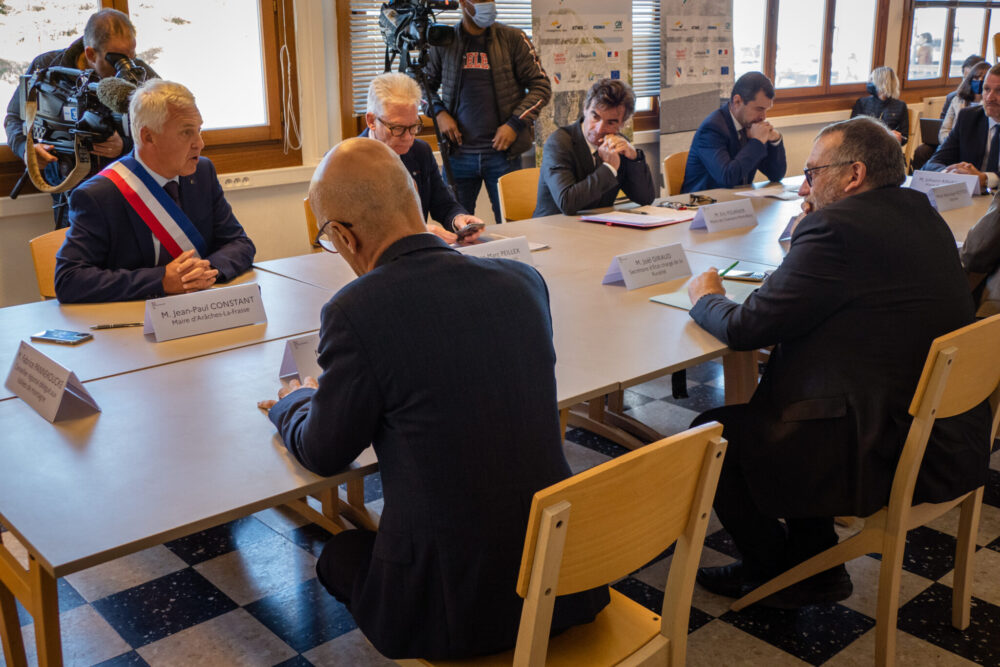 Visite de Joël Giraud, secrétaire d'État